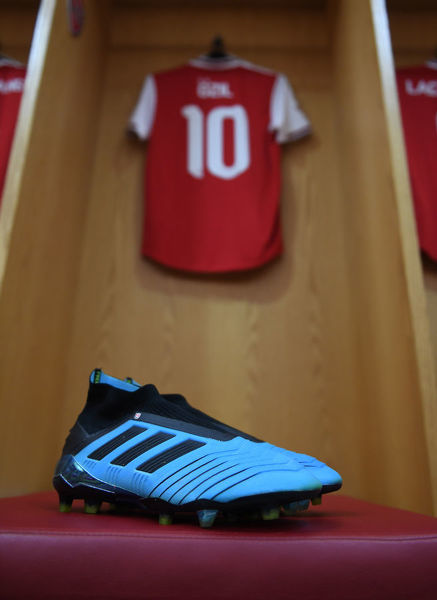 LONDON, ENGLAND - JULY 28: Mesut Ozil's locker in the Arsenal changing room before the Emirates Cup match between Arsenal and Olympic Lyonnais at Emirates Stadium on July 28, 2019 in London, England