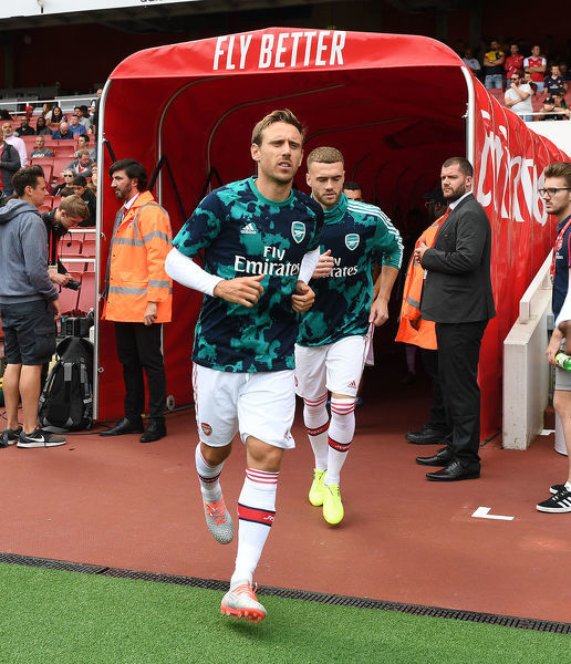 LONDON, ENGLAND - JULY 28: Nacho Monreal of Arsenal before the Emirates Cup match between Arsenal and Olympic Lyonnais at Emirates Stadium on July 28, 2019 in London, England. (Photo by Stuart MacFarlane/Arsenal FC via Getty Images)