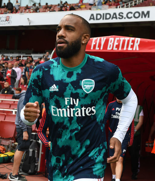 LONDON, ENGLAND - JULY 28: Alex Lacazette of Arsenal before the Emirates Cup match between Arsenal and Olympic Lyonnais at Emirates Stadium on July 28, 2019 in London, England. (Photo by Stuart MacFarlane/Arsenal FC via Getty Images)