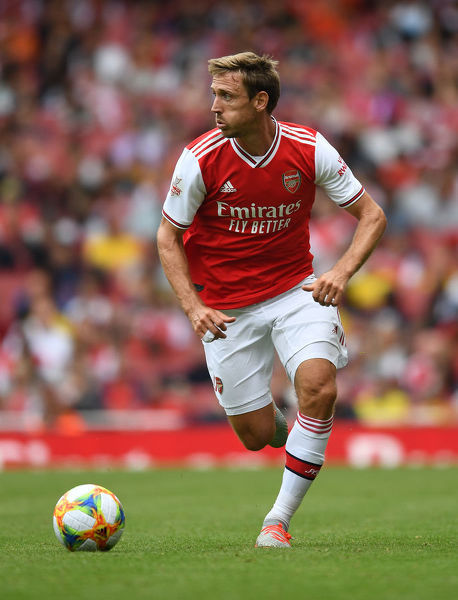 LONDON, ENGLAND - JULY 28: Nacho Monreal of Arsenal during the Emirates Cup match between Arsenal and Olympic Lyonnais at Emirates Stadium on July 28, 2019 in London, England. (Photo by Stuart MacFarlane/Arsenal FC via Getty Images)