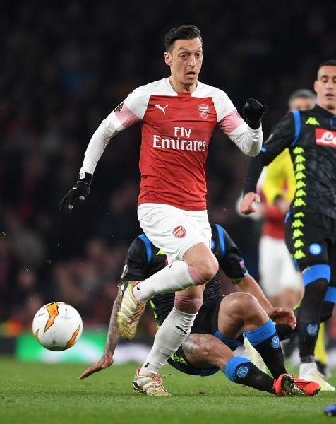 LONDON, ENGLAND - APRIL 11: of Arsenal during the UEFA Europa League Quarter Final First Leg match between Arsenal and S.S.C. Napoli at Emirates Stadium on April 11, 2019 in London, England. (Photo by Stuart MacFarlane/Arsenal FC via Getty Images)
