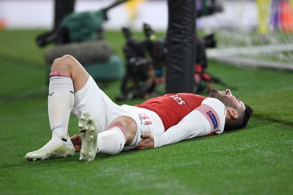 LONDON, ENGLAND - APRIL 11: Sead Kolasinac of Arsenal during the UEFA Europa League Quarter Final First Leg match between Arsenal and S