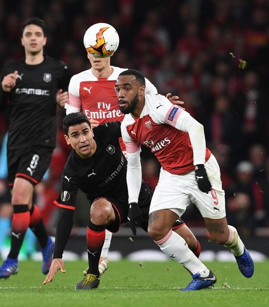 arsenal v stade rennais uefa europa league round 16