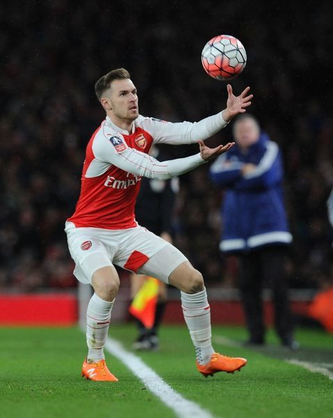 LONDON, ENGLAND - JANUARY 09: Aaron Ramsey of Arsenal during the Emirates FA Cup Third Round match between Arsenal and Sunderland at Emirates Stadium on January 9, 2016 in London, England. (Photo by Stuart MacFarlane/Arsenal FC via Getty Images)