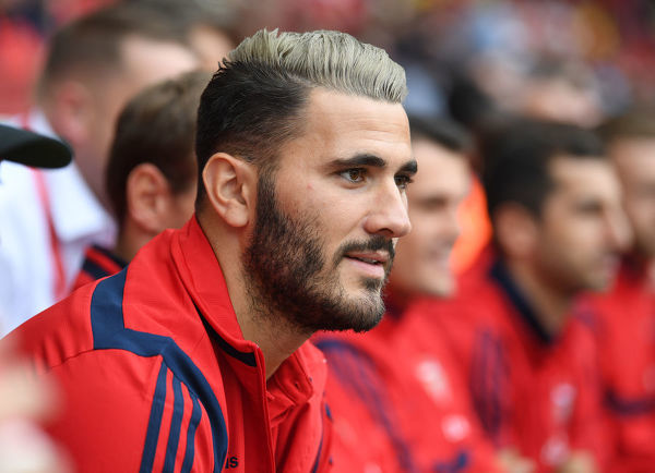 LONDON, ENGLAND - JULY 28: Sead Kolasinac of Arsenal during the Emirates Cup match between Arsenal Women and FC Bayern Munich Women at Emirates Stadium on July 28, 2019 in London, England. (Photo by Stuart MacFarlane/Arsenal FC via Getty Images)