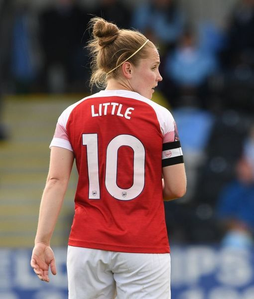 BOREHAMWOOD, ENGLAND - MAY 11: Kim Little of Arsenal during the match between Arsenal Women and Manchester City Women at Meadow Park on May 11, 2019 in Borehamwood, England