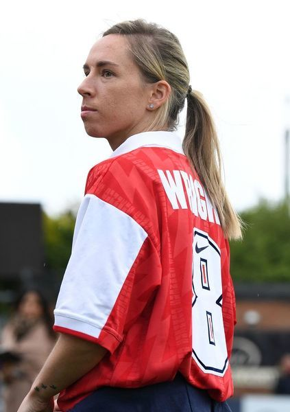 BOREHAMWOOD, ENGLAND - MAY 11: Jordan Nobbs of Arsenal before the match between Arsenal Women and Manchester City Women at Meadow Park on May 11, 2019 in Borehamwood, England