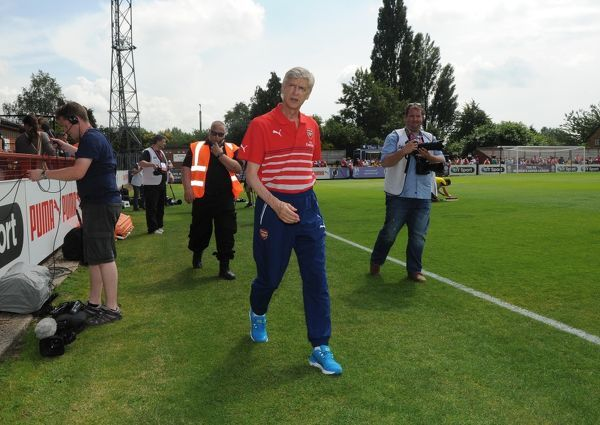 Arsene Wenger the Arsenal Manager. Boreham Wood 0:2 Arsenal. Pre Season Friendly. Meadow Park. Borehamwood, Herts, 19/7/14. Credit : Arsenal Football Club / David Price