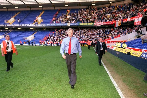 arsene wenger arsenal manager celebrates