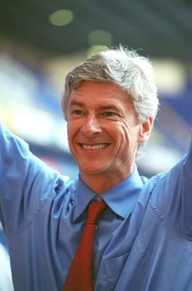 arsene wenger the arsenal manager celebrates