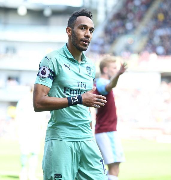 BURNLEY, ENGLAND - MAY 12: Pierre-Emerick Aubameyang of Arsenal during the Premier League match between Burnley FC and Arsenal FC at Turf Moor on May 12, 2019 in Burnley, United Kingdom. (Photo by Stuart MacFarlane/Arsenal FC via Getty Images)