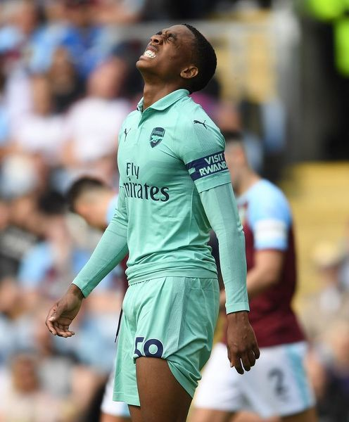 BURNLEY, ENGLAND - MAY 12: Joe Willock of Arsenal during the Premier League match between Burnley FC and Arsenal FC at Turf Moor on May 12, 2019 in Burnley, United Kingdom. (Photo by Stuart MacFarlane/Arsenal FC via Getty Images)