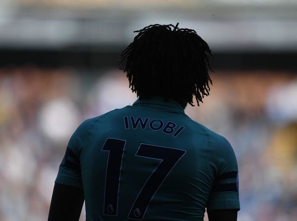 BURNLEY, ENGLAND - MAY 12: Alex Iwobi of Arsenal during the Premier League match between Burnley FC and Arsenal FC at Turf Moor on May 12, 2019 in Burnley, United Kingdom. (Photo by Stuart MacFarlane/Arsenal FC via Getty Images)