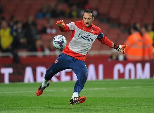 David Ospina (Arsenal) before the match. Arsenal 1:2 Southampton. Capital One Cup