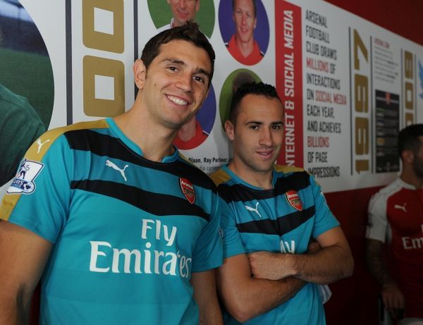 emi martinez and david ospina arsenal