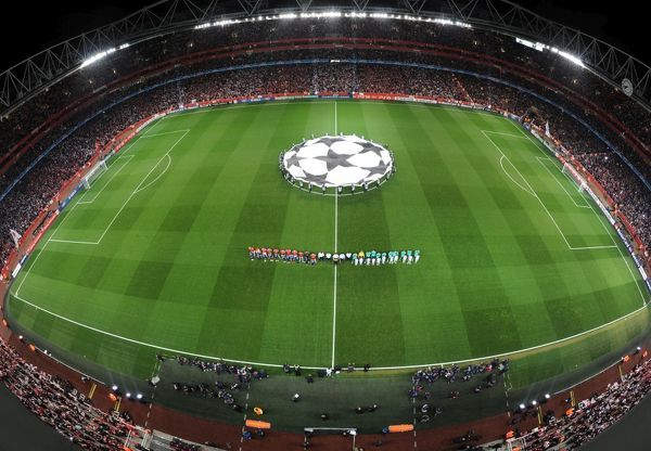 Emirates Stadium. Arsenal 2:1 Barcelona, UEFA Champions League, Emirates Stadium