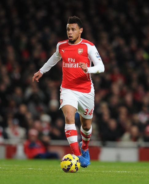 Francis Coquelin (Arsenal). Arsenal 2:1 Leicester City. Barclays Premier League. Emirates Stadium