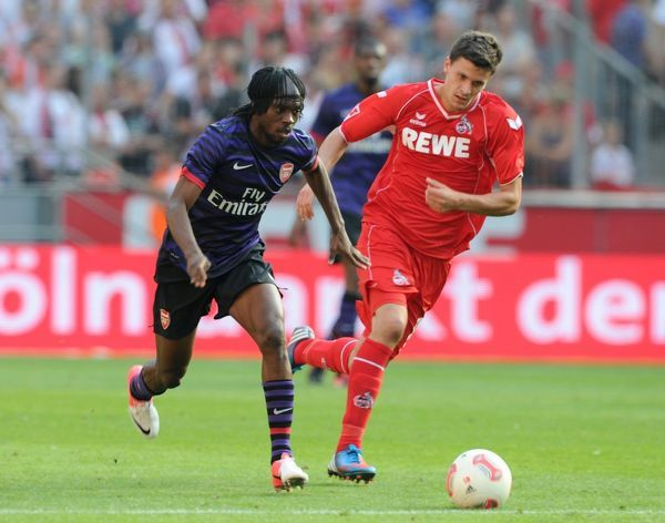 Gervinho (Arsenal) Tobias Strobl (Cologne). Cologne 0:4 Arsenal. Pre Season Friendly