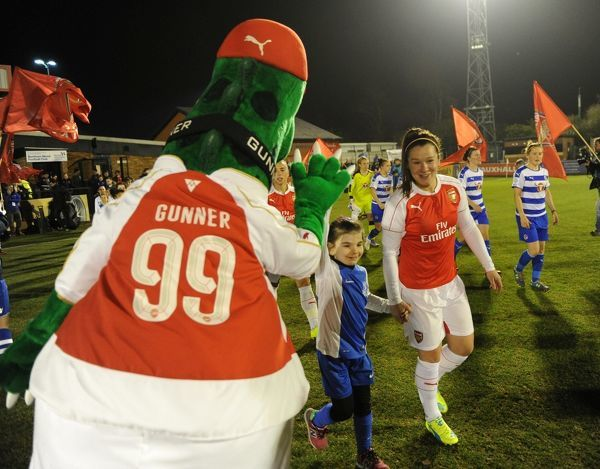 gunner mascot emma mitchell arsenal ladies