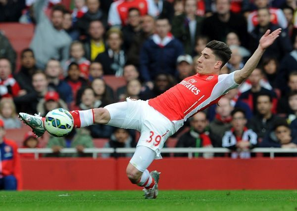 Hector Bellerin (Arsenal). Arsenal 0:0 Chelsea. Barclays Premier League. Emirates Stadium, 26/4/15