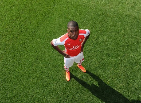 joel campbell arsenal arsenal 1st team photocall