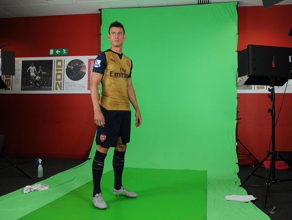 Laurent Koscielny (Arsenal). Arsenal 1st Team Photocall and Training Session. Emirates