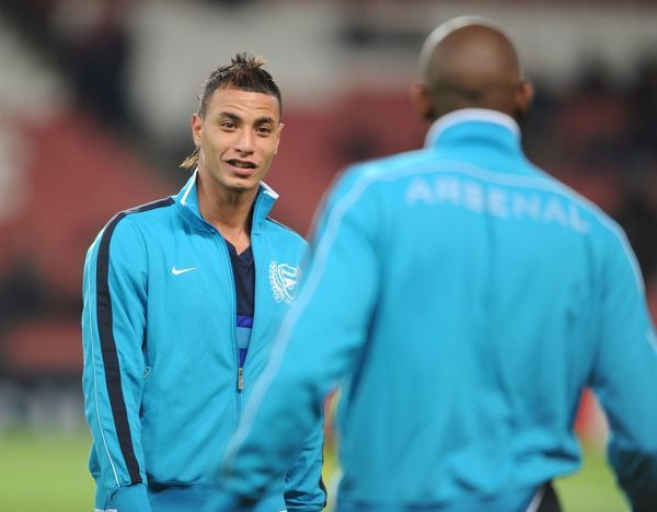 LONDON, ENGLAND - NOVEMBER 23: Marouane Chamakh of Arsenal before the UEFA Champions League Group F match between Arsenal FC and Borussia Dortmund at Emirates Stadium on November 23, 2011 in London, England. (Photo by Stuart MacFarlane/Arsenal FC via