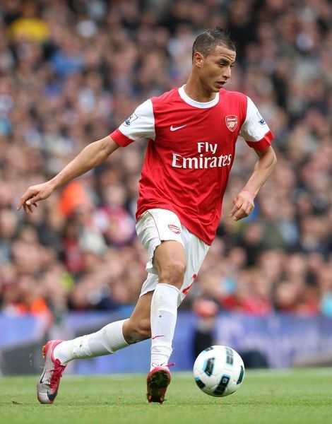 Marouane Chamakh (Arsenal). Arsenal 2:1 Birmingham City. Barclays Premier League
