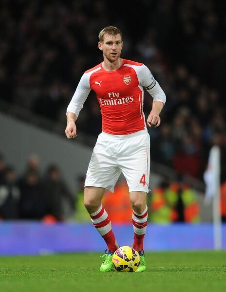 Per Mertesacker (Arsenal). Arsenal 1:0 Southampton. Barclays Premier League. Emirates Stadium