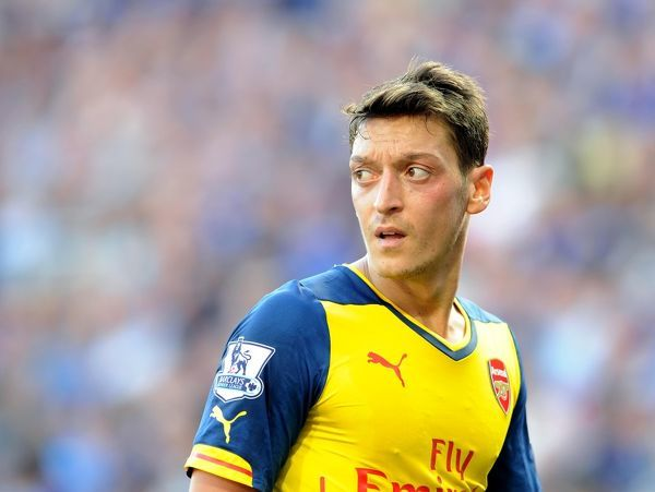 Mesut Ozil (Arsenal). Leicester City 1:1 Arsenal. Barclays Premier League. The King Power Stadium. Leicester, 31/8/14. Credit : Arsenal Football Club / David Price