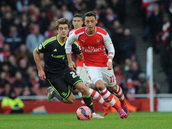 mesut ozil arsenal patrick bamford middlesbrough
