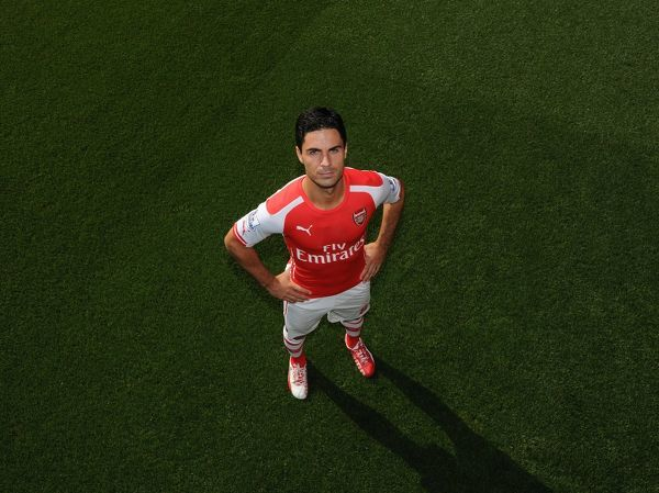 mikel arteta arsenal arsenal 1st team photocall