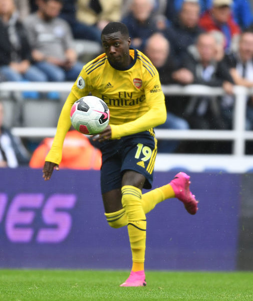 NEWCASTLE UPON TYNE, ENGLAND - AUGUST 11: Nicolas Pepe of Arsenal during the Premier League match between Newcastle United and Arsenal FC at St