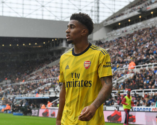 NEWCASTLE UPON TYNE, ENGLAND - AUGUST 11: Reiss Nelson of Arsenal during the Premier League match between Newcastle United and Arsenal FC at St