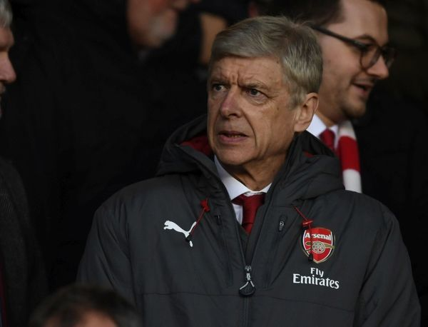 NOTTINGHAM, ENGLAND - JANUARY 07: Arsenal manager Arsene Wenger in the directors box before the FA Cup 3rd Round match between Nottingham Forest and Arsenal at City Ground on January 7, 2018 in Nottingham, England