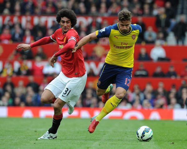 Olivier Giroud (Arsenal) Marouane Fellaini (Man Utd). Manchester United 1:1 Arsenal