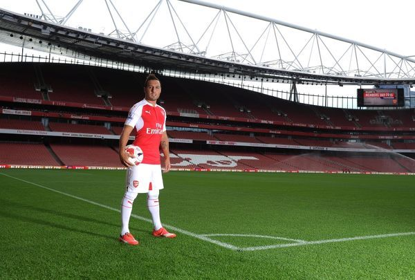 santi cazorla arsenal arsenal 1st team photcall