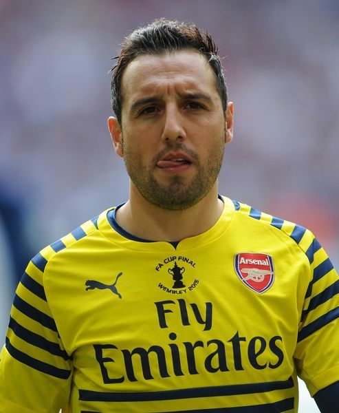 santi cazorla arsenal warms match arsenal 4
