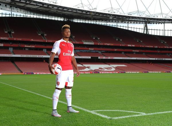 Serge Ganbry (Arsenal). Arsenal 1st Team Photcall and Training Session. Emirates Stadium, 28/17/15. Credit : Arsenal Football Club / David Price