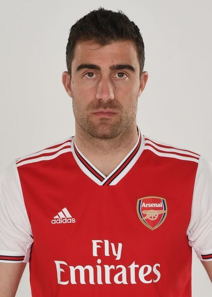 Sokratis of Arsenal. Arsenal Training Ground, London Colney, Hertfordshire, 4th April 2019. Copyright : Stuart MacFarlane / Arsenal Football Club