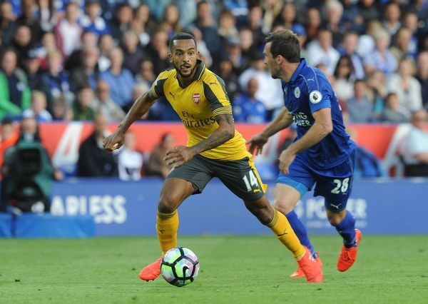 theo walcott arsenal leicester city 0