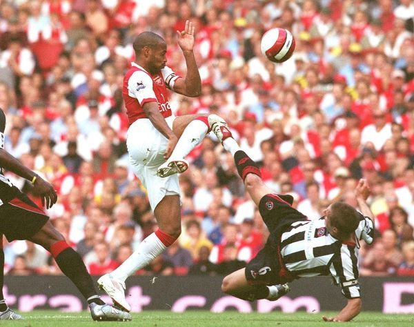 thierry henry arsenal phil jagielka and claude davis