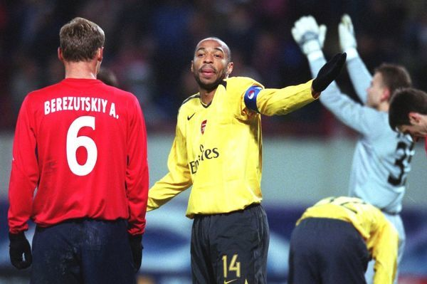 thierry henry arsenal in shock after his