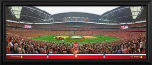 special editions/2014 fa cup final framed panoramic print