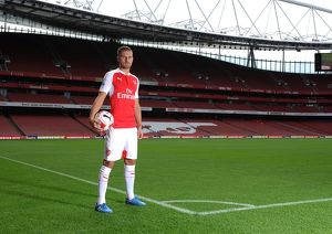 Aaron Ramsey (Arsenal). Arsenal 1st Team Photcall and Training Session. Emirates Stadium