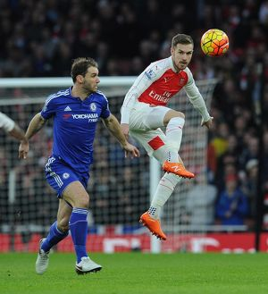 season 2015 16/arsenal v chelsea 2015 16/aaron ramsey arsenal branislav ivanovic