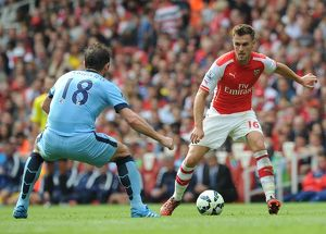season 2014 15/arsenal v manchester city 2014 15/aaron ramsey arsenal frank lampard man city