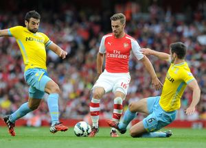 season 2014 15/arsenal v crystal palace 2014 15/aaron ramsey arsenal mile jedinak scott dann palace