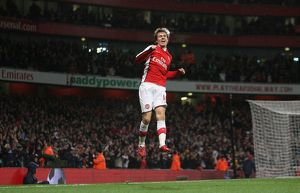previous season matches/matches 2009 10 arsenal v stoke city 2009 10/aaron ramsey celebrates scoring 2nd arsenal goal