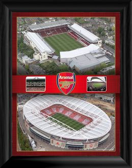 aerial images of highbury and emirates framed
